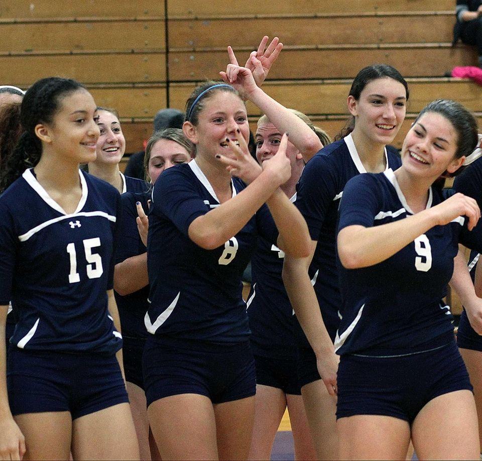 Massapequa's Samantha DePasqual celebrates win in the girls