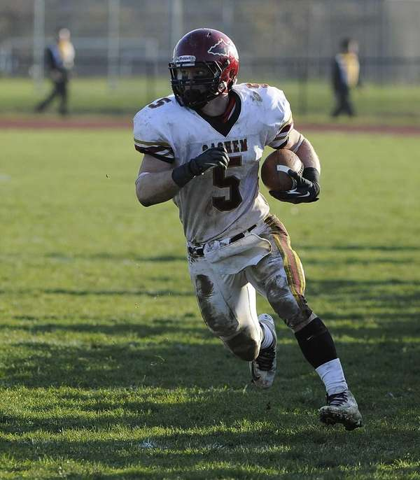 Sachem East's Steven Casali runs down the sideline