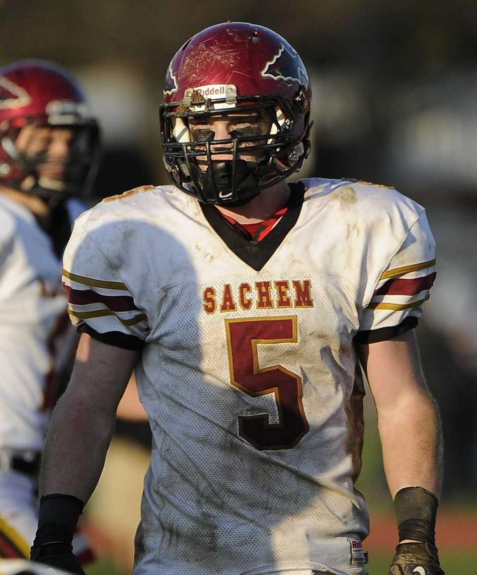 Sachem East's Steven Casali scored two touchdowns in