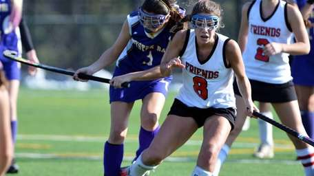 Oyster Bay's Alessandre Puccio battles with Friends Academy's