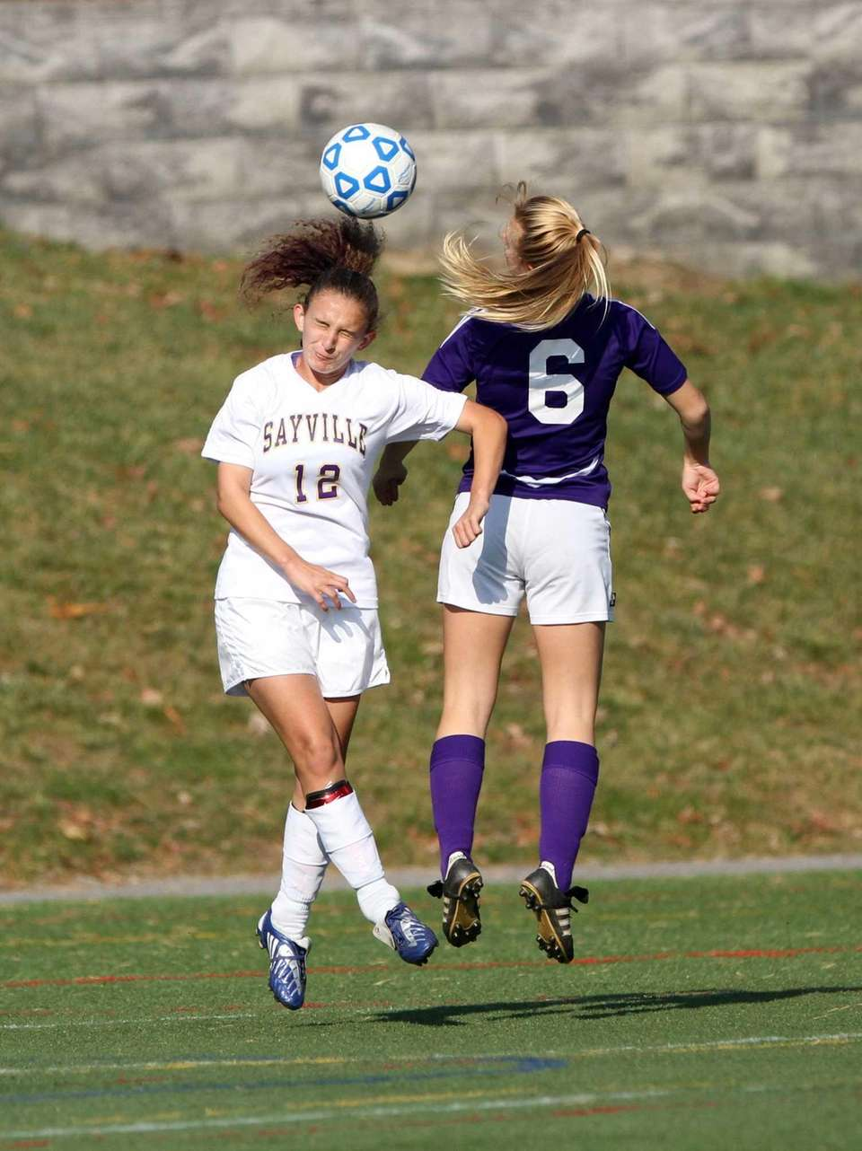Sayville's Victoria Ross and Islip's Lauren Sparks go