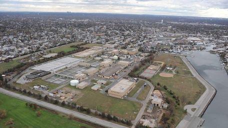 The Bay Park Sewage Treatment Plant was damaged