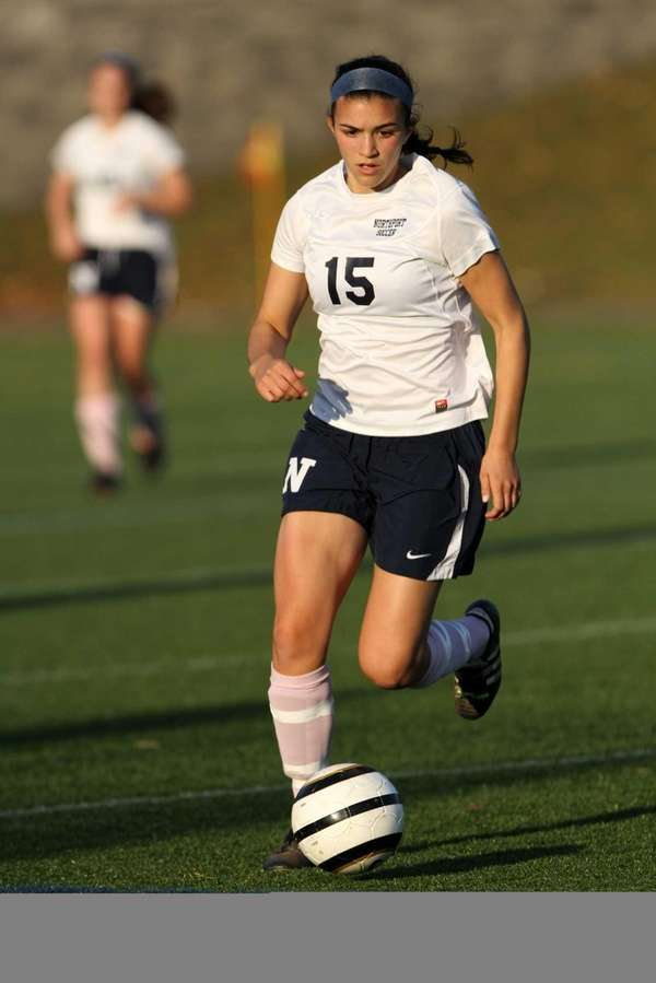 Northport's Cortney Fortunato chases the ball in the