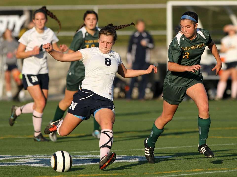 Northport's Kristin Desmond kicks the ball as Ward
