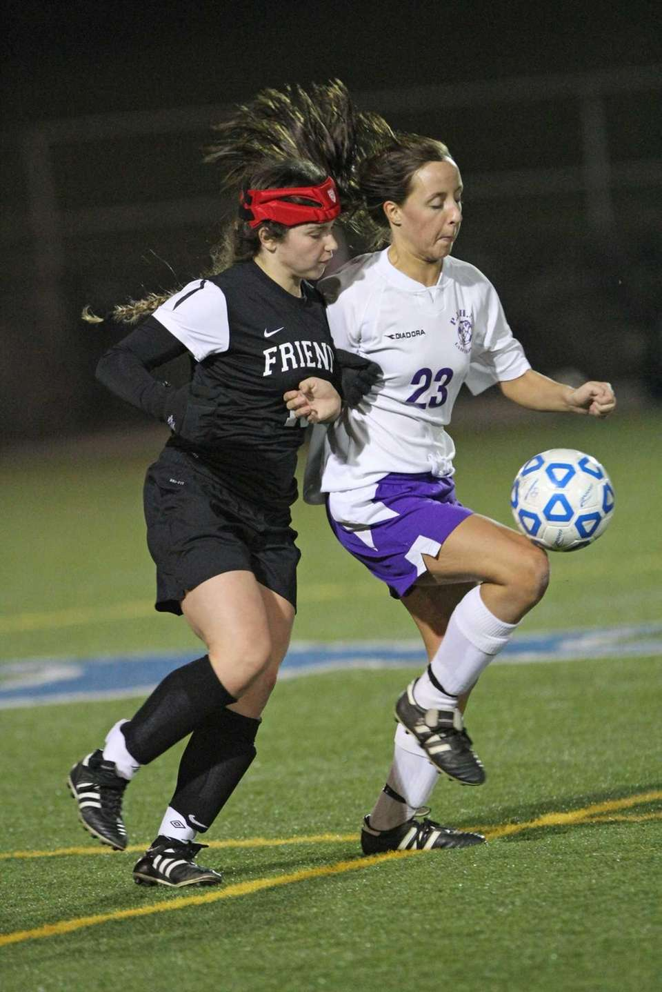 Friends Academy's Kasey Katz and Port Jefferson's Katherine