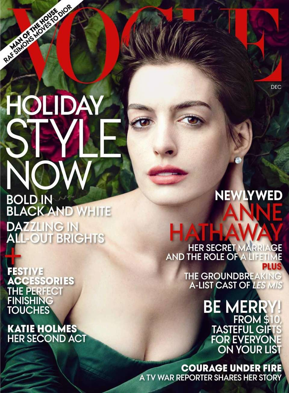 Anne Hathaway on the cover of the December