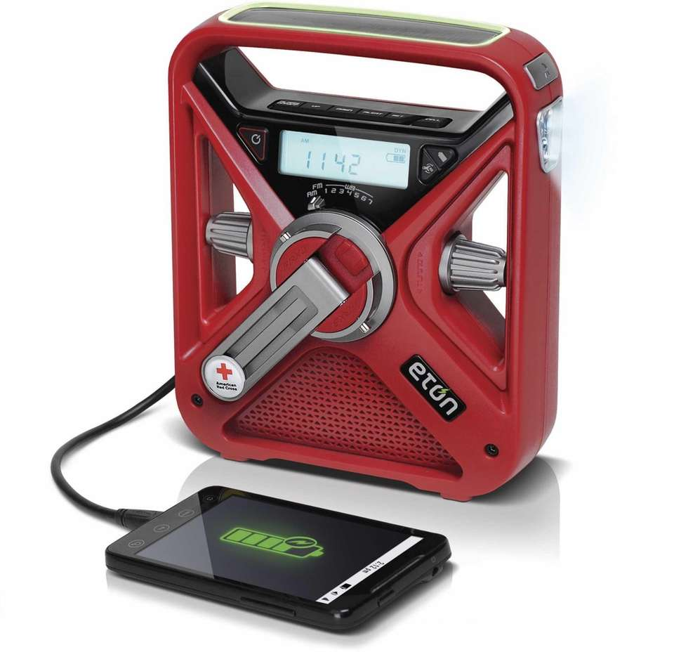 This emergency weather radio gives you 24-hour access