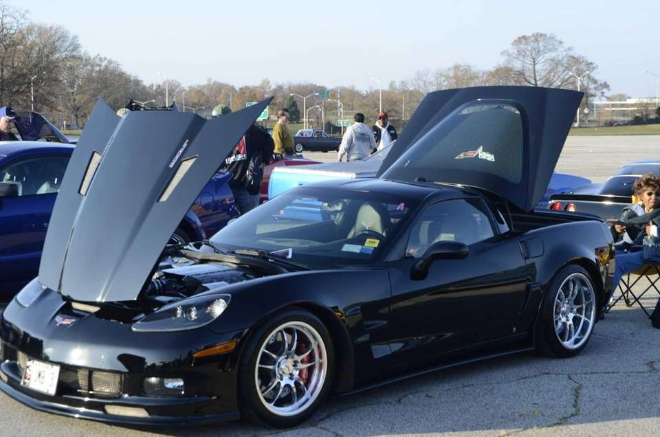 This 2005 Corvette 6.0 sits on display at