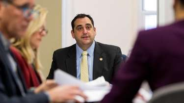 Huntington Town Supervisor Chad Lupinacci, seen on Feb.