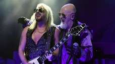 Judas Priest guitarist Richie Faulkner and singer Rob