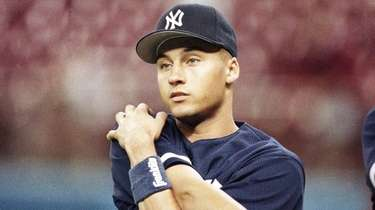 Derek Jeter warms up in Seattle as the