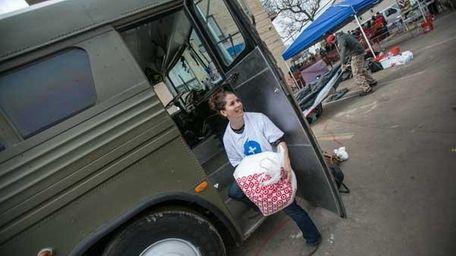 Rockawayhelp.com creator Jessica Klein in Queens