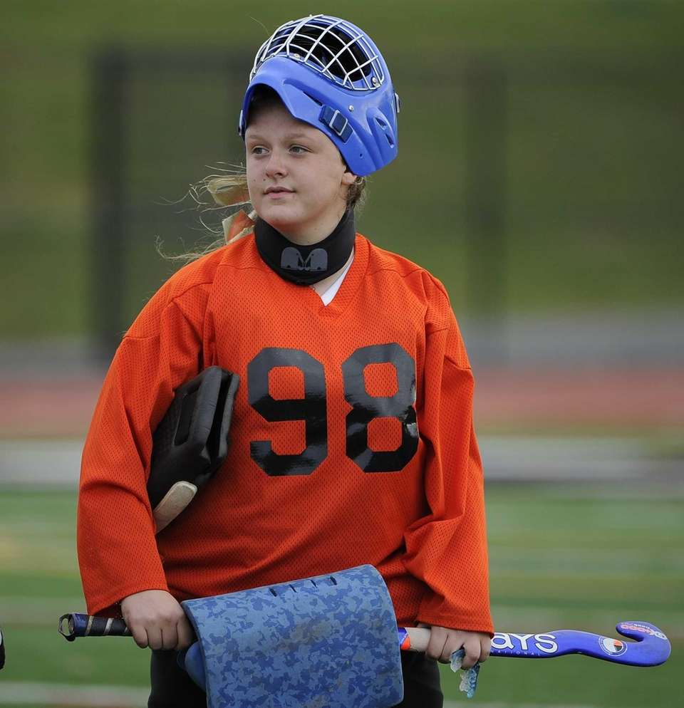 Miller Place goalkeeper Carly Olsen is seen at