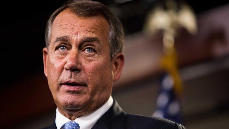 Speaker of the House John Boehner addresses the
