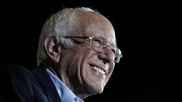 Sen. Bernie Sanders speaks Saturday after winning the