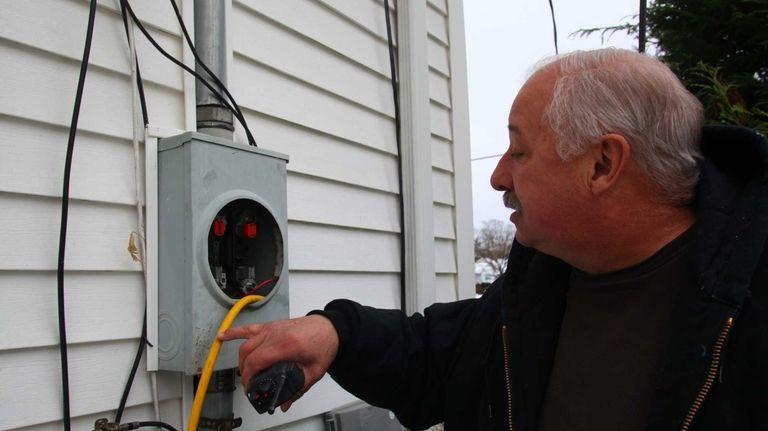 Richard Jendzo, a senior electrical inspector, finds a