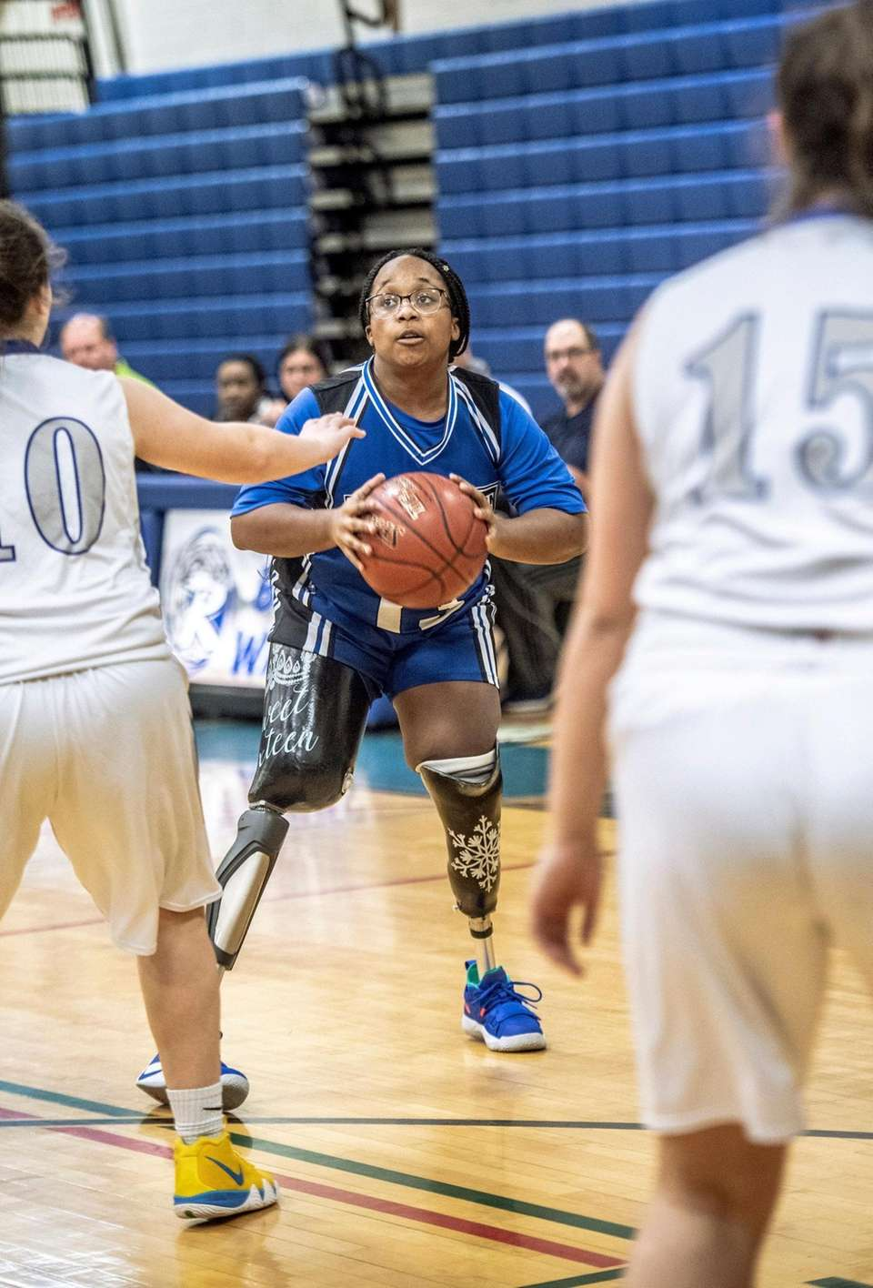 Amaya Williams prepares to shoot a three-pointer for