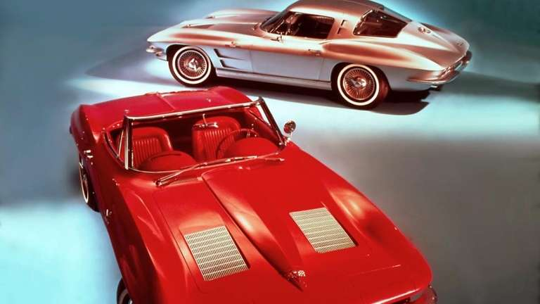 An illustration shows the 1963 Corvette Sting Ray