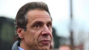 Governor Andrew Cuomo in Long Beach. (Nov. 10,