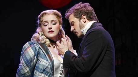 """Betsy Wolfe, left, and Will Chase in """"The"""