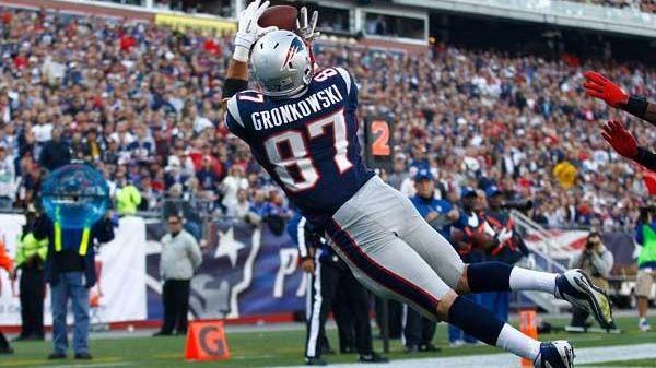 Rob Gronkowski #87 of the New England Patriots