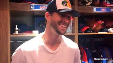 Mets starting pitcher Jacob deGrom participated in a