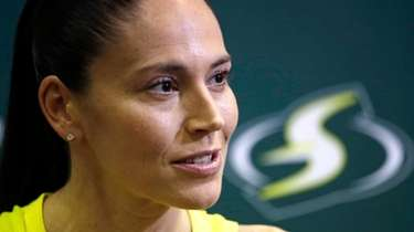 Sue Bird of the Seattle Storm talks with