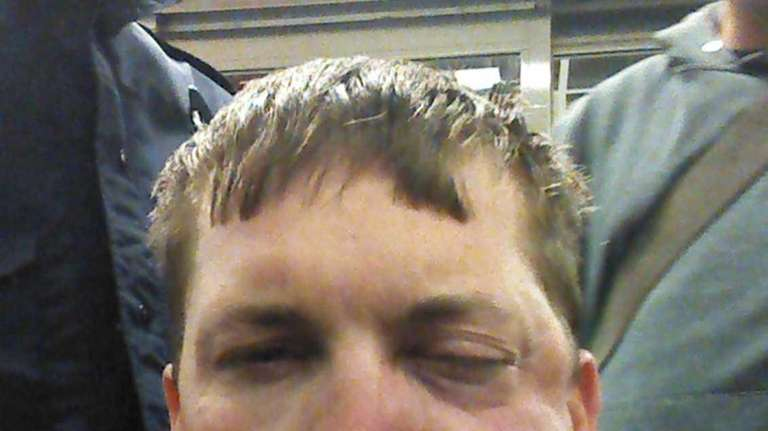 Utility worker John Applewhite of Florida, shown after