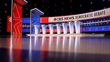 The stage for Tuesday night's Democratic presidential debate
