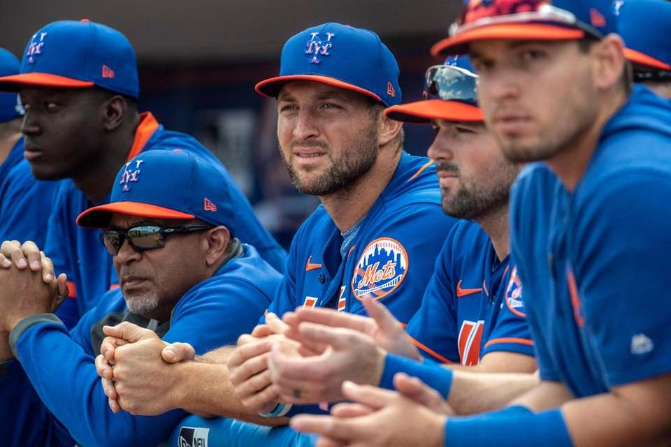 Tim Tebow had two hits in 13 at-bats