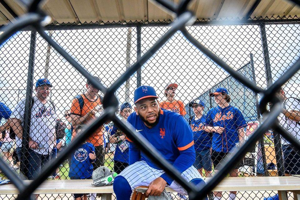 New York Mets player Dominic Smith Wednesday Feb