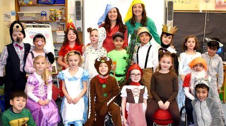 First-graders at Glenwood Landing Elementary School recently dressed
