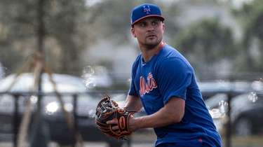 Mets infielder J.D. Davis during a spring training