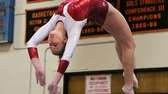 Bay Shore's Olivia O'Connor does a back flip