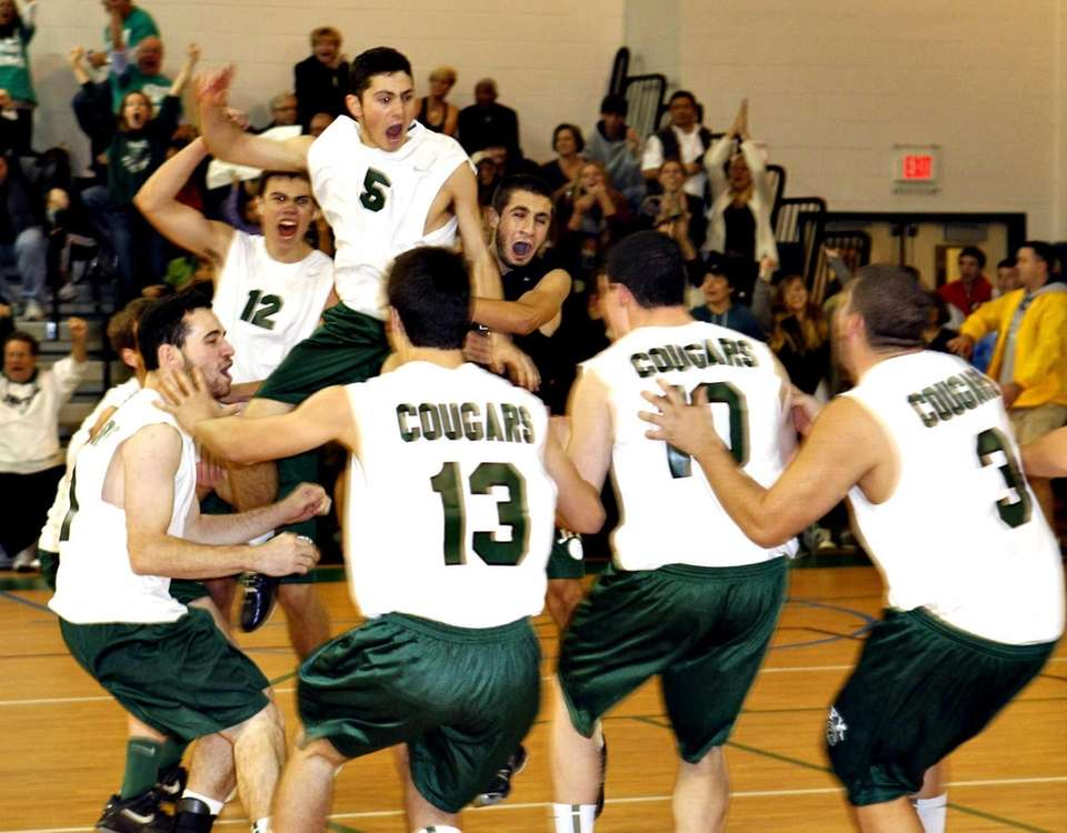 Bellmore JFK reacts after winning the Division II