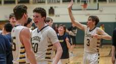 From left, Northport's George Mansour, Nick Watts and