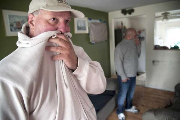 Richard Barone, left, and his neighbor Mike Beharovic,