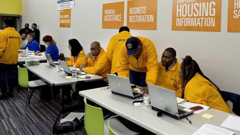 A disaster-relief center in Far Rockaway. (Nov. 13,