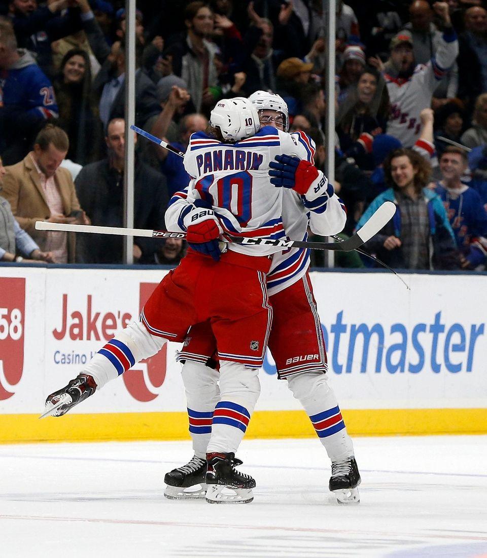 Mika Zibanejad #93 of the New York Rangers