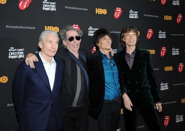 (L-R) Charlie Watts, Keith Richards, Ronnie Wood and