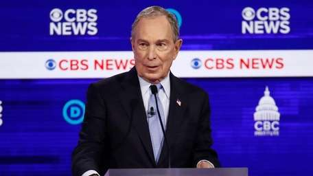 Mike Bloomberg at the Democratic presidential primary debate