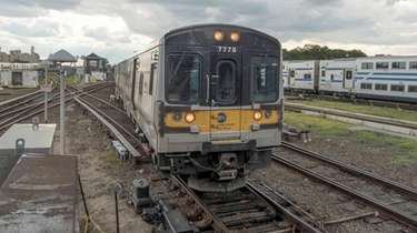 An eastbound Long Island Rail Road train enters