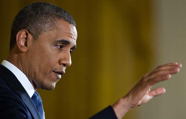 President Barack Obama speaks during a press conference