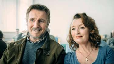 Liam Neeson, left, and Lesley Manville  star
