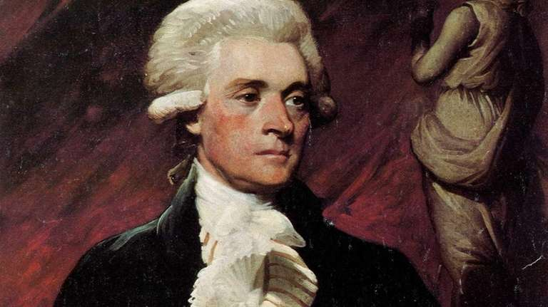 Portrait of Thomas Jefferson by artist Mather Brown