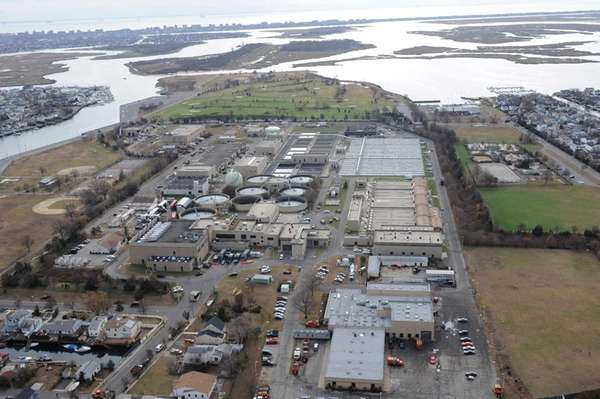 The Bay Park Sewage Treatment Plant at 1