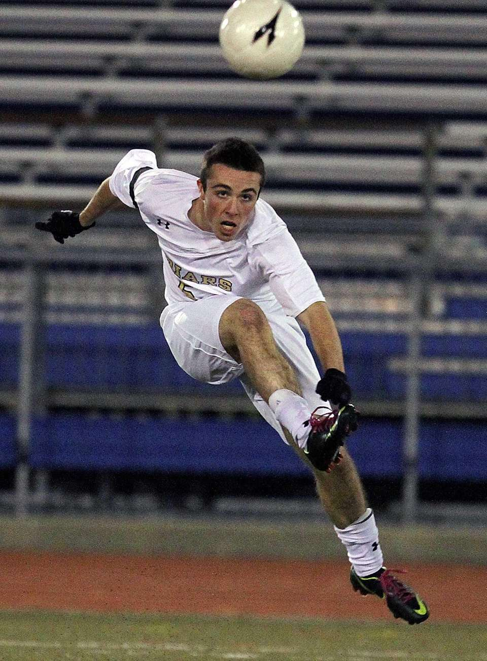 St. Anthony's Brendan Reardon clears the ball during
