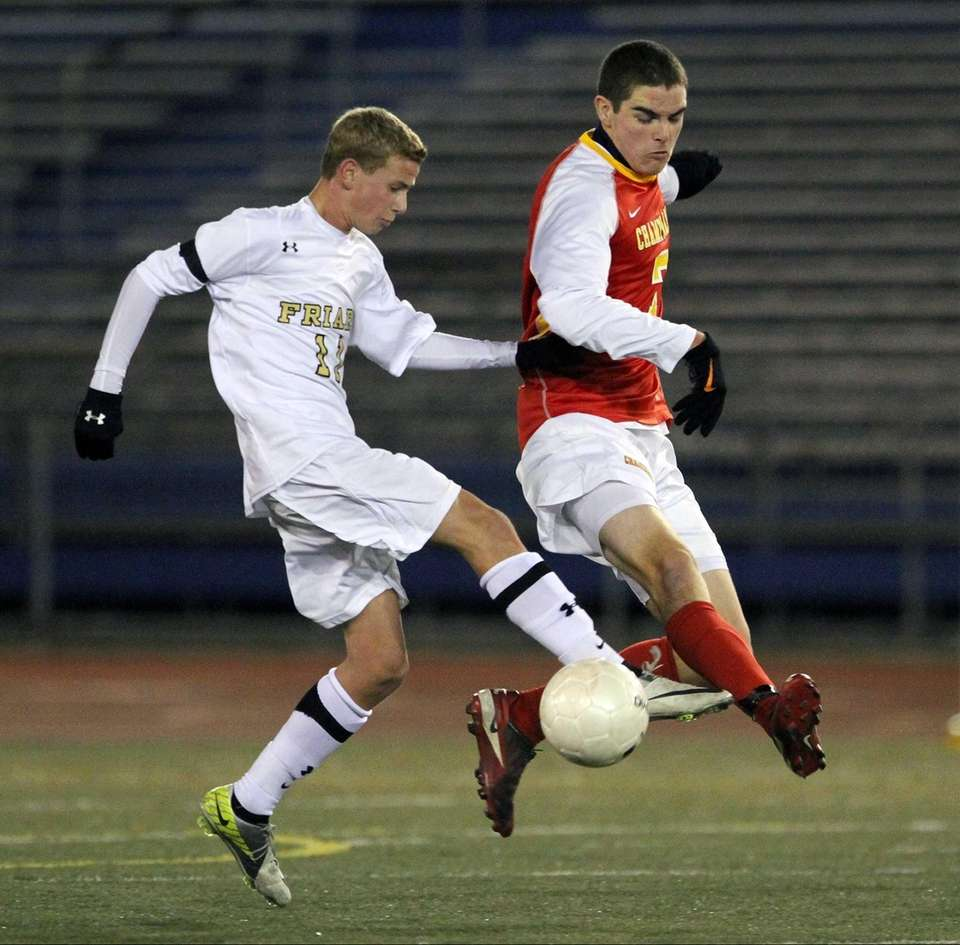 St. Anthony's Justin Carfora and Chaminade's Patrick Codispoti