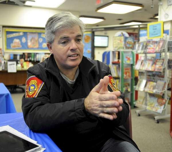 Suffolk County Supervisor Steve Bellone dropped in at