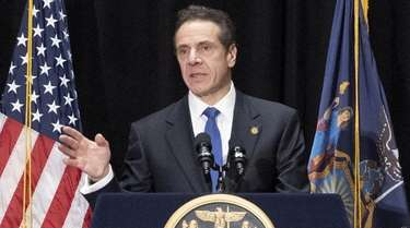 Gov. Andrew Cuomo speaks in Manhattan on Tuesday.